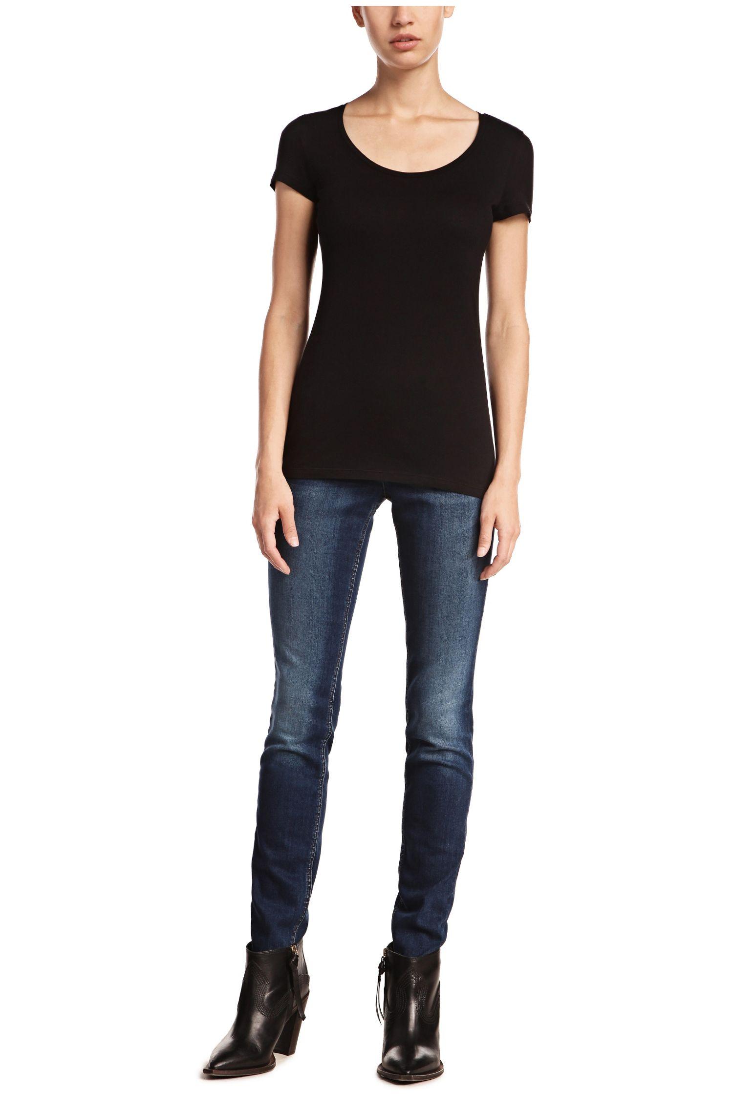 Slim-Fit T-Shirt aus Baumwoll-Mix mit Modal: ´Tafame`