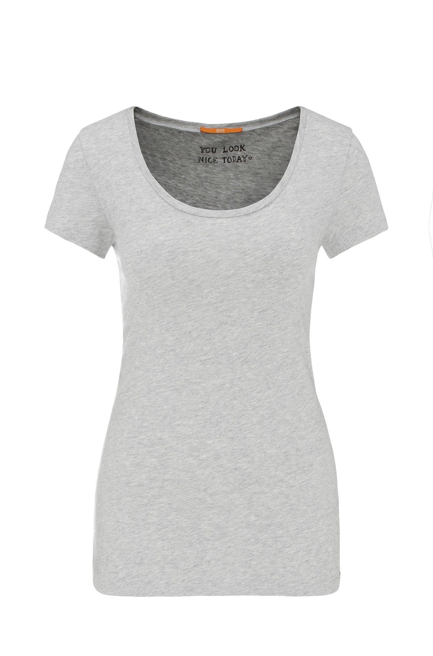 Camiseta slim fit en mezcla de algodón con modal: 'Tafame'