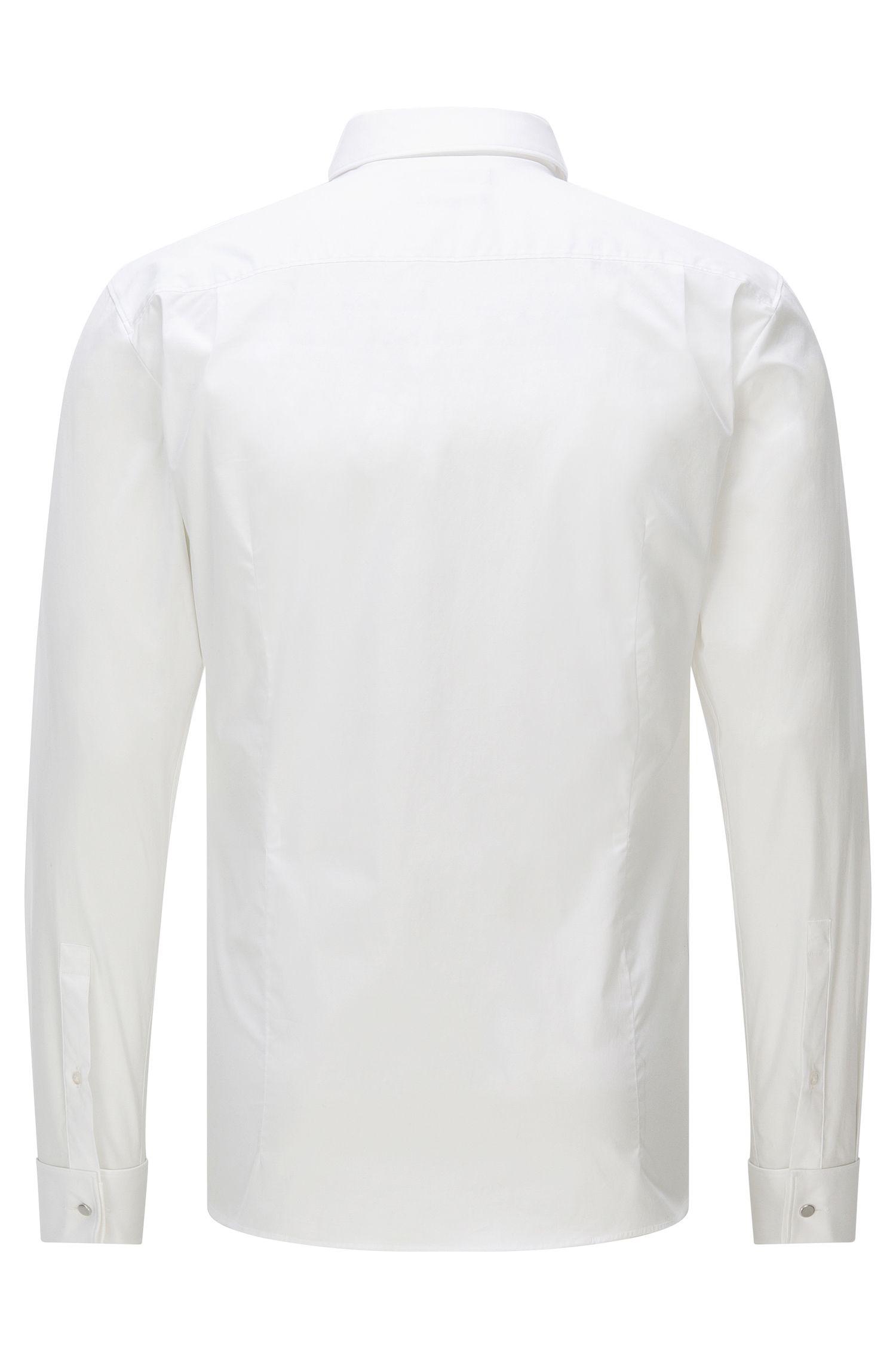 Slim-Fit Hemd aus Baumwoll-Mix mit verdeckter Knopfleiste: 'Ebly'
