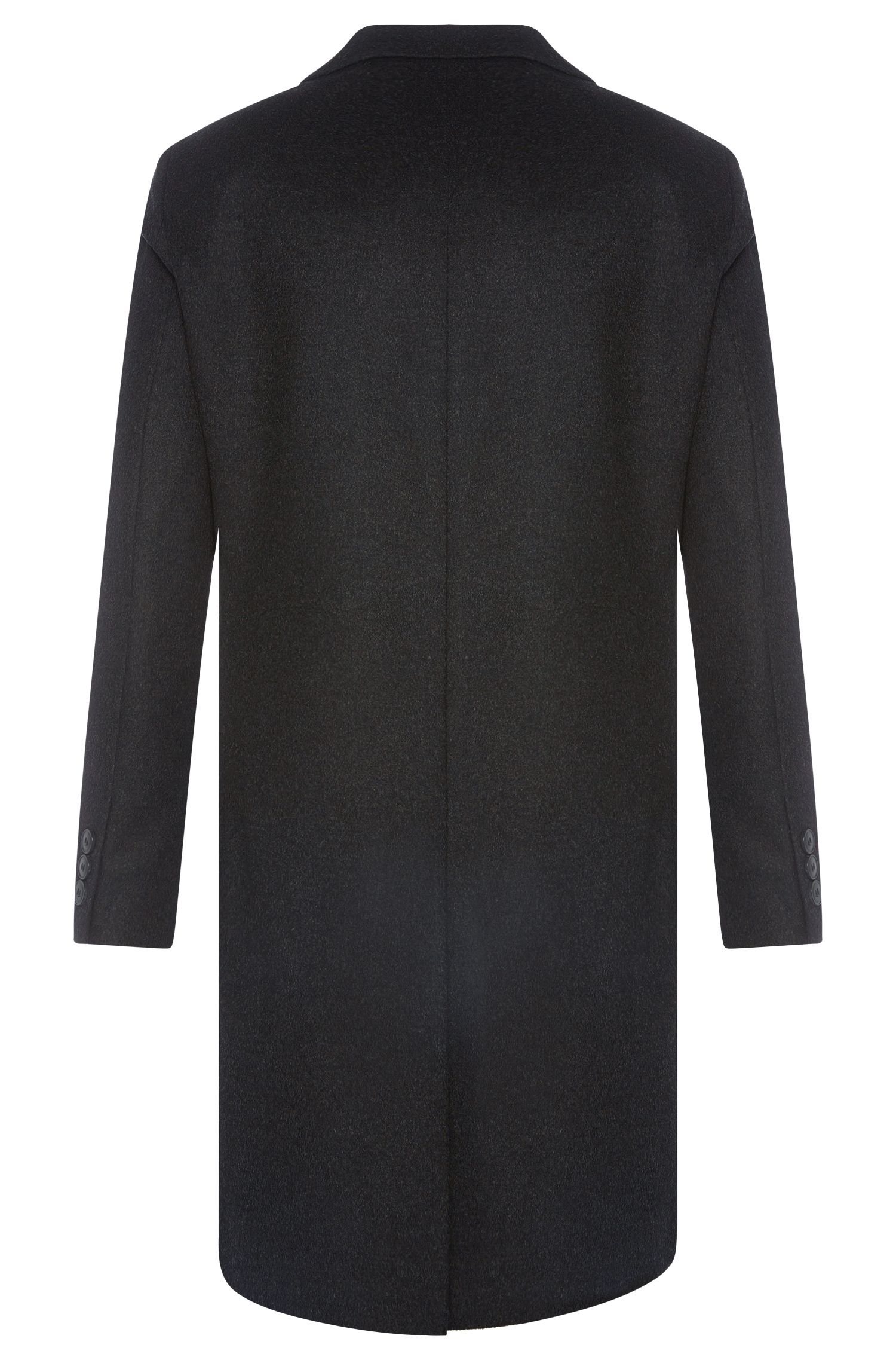 Manteau Regular Fit en laine vierge mélangée finement structurée, avec du cachemire: «C-Stratus»