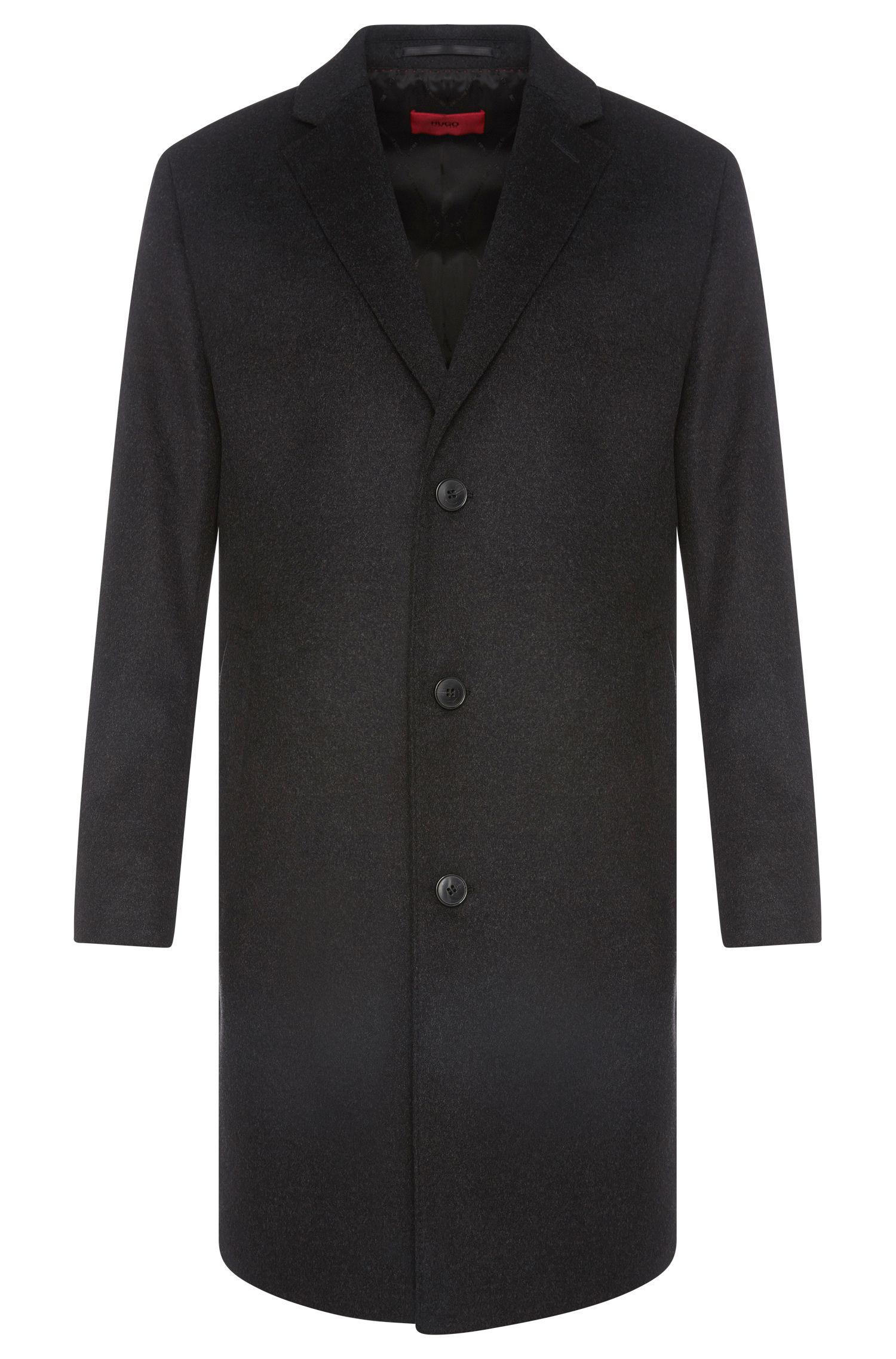 Regular-fit coat in a finely textured new-wool blend with cashmere: 'C-Stratus'