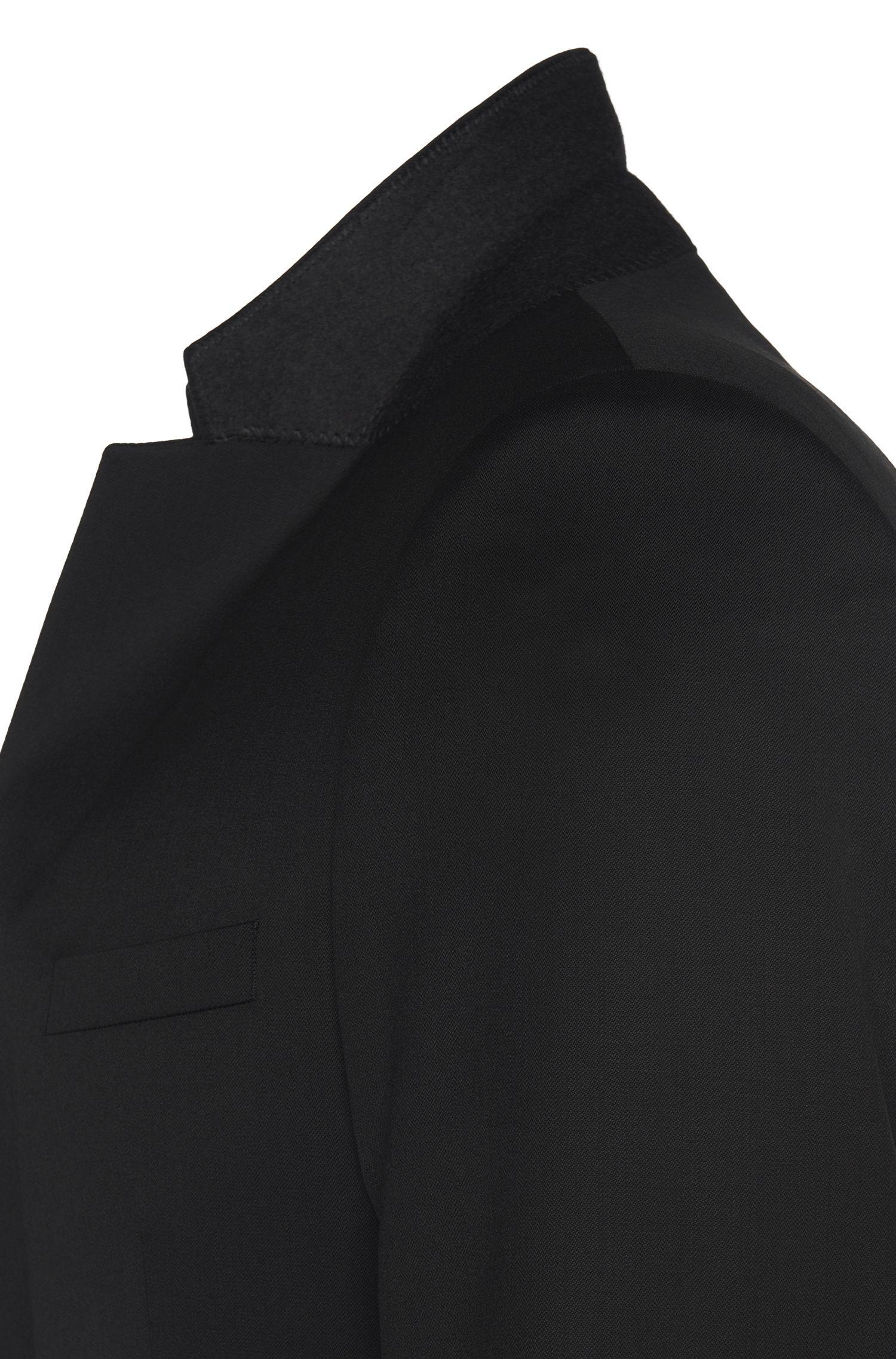 Slim-Fit Anzug aus feinster Schurwolle in Superblack/Supernavy-Qualität: 'Aeron2/Hamen2'