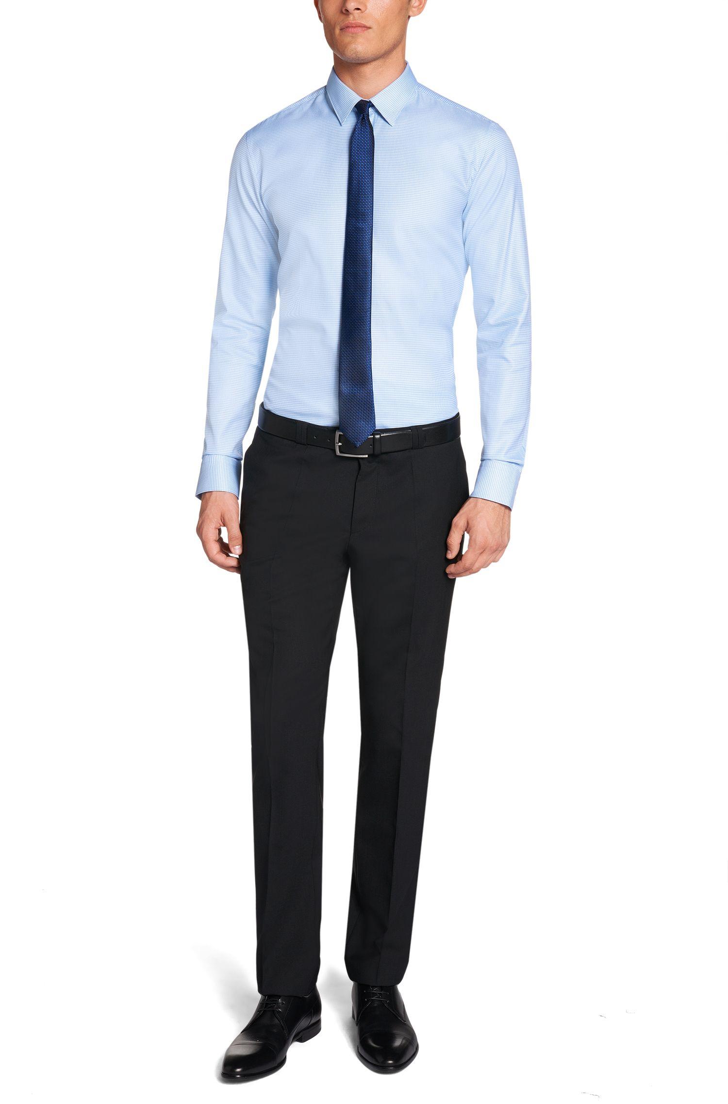 Slim-Fit Hemd aus reiner Baumwolle: 'Elisha'