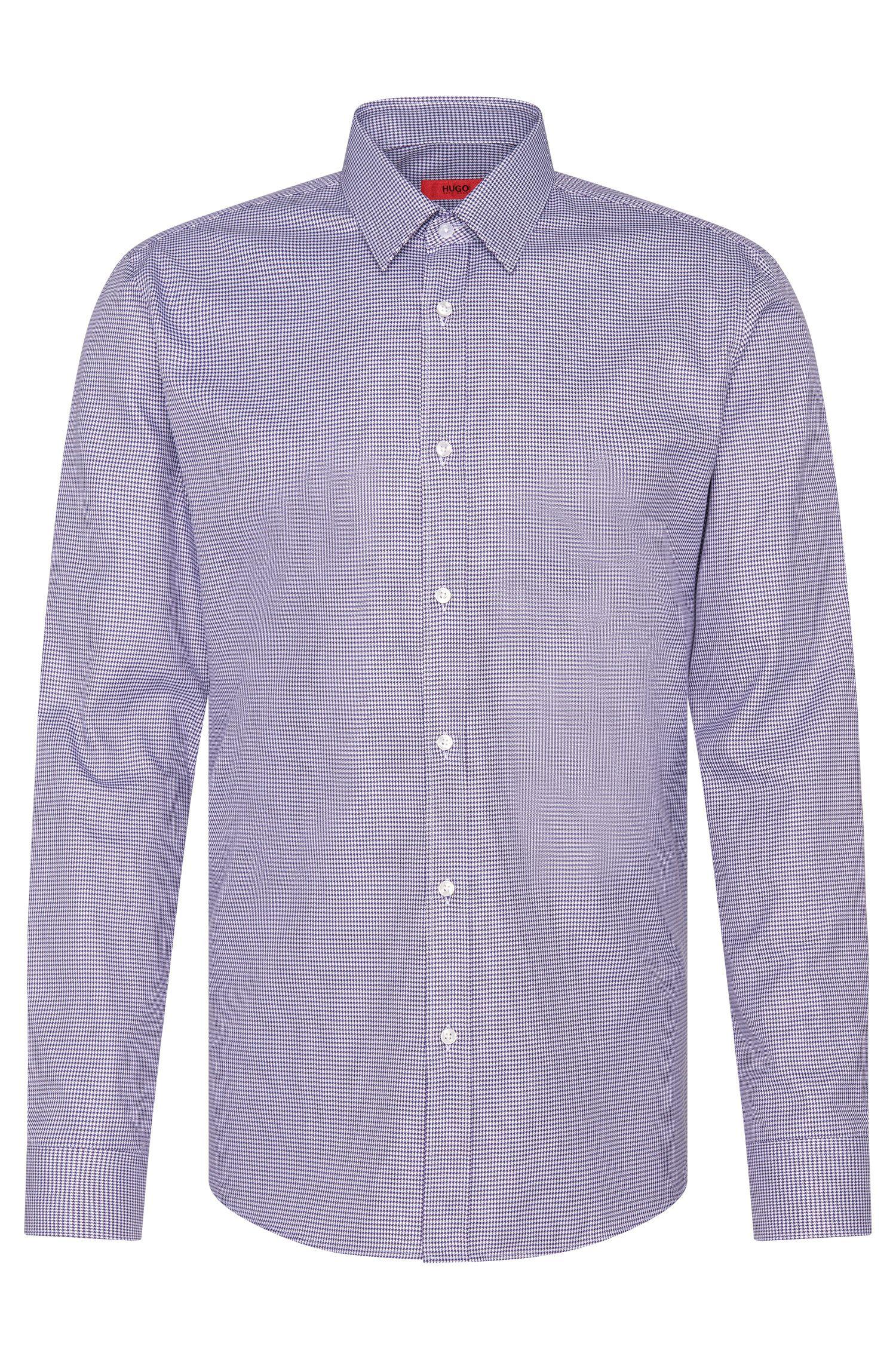 Slim-fit overhemd van zuivere katoen: 'Elisha'