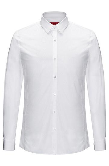 Extra Slim-Fit Hemd aus Stretch-Baumwolle: 'Enin', Weiß
