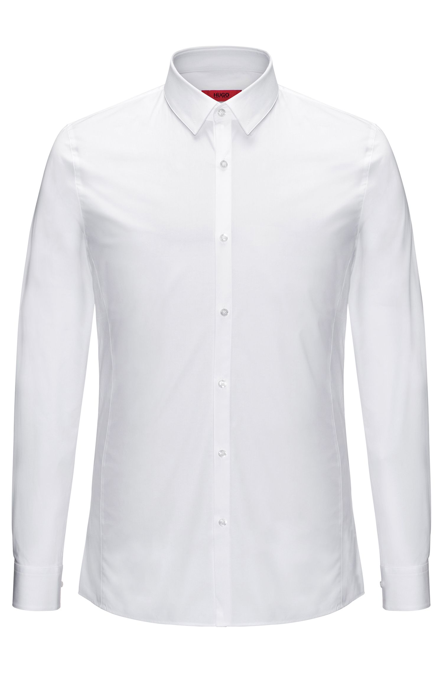 Extra-slim-fit shirt in stretch cotton: 'Enin'