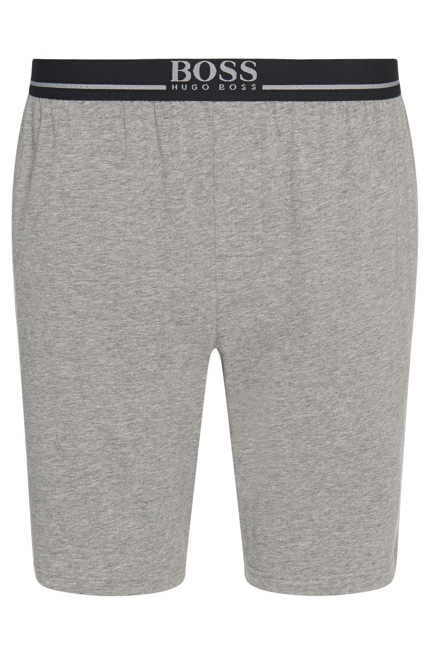 Shorts loungewear en algodón elástico