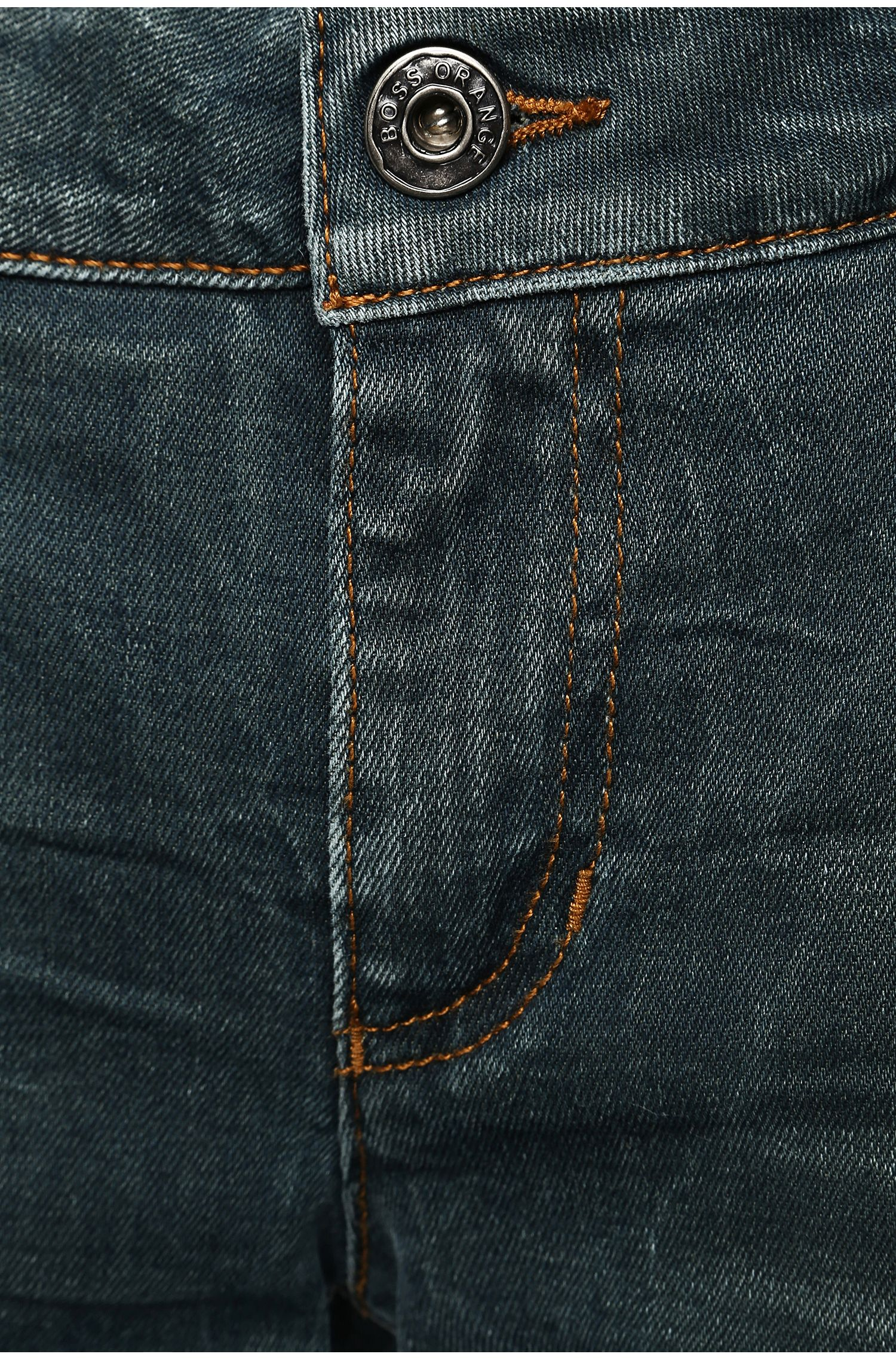 Jeans Slim Fit en coton stretch : « Orange J20 Lunja2 »