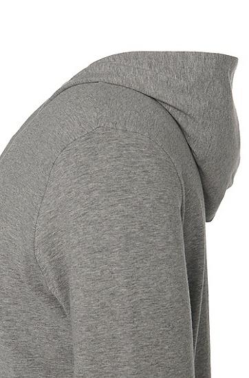 Kapuzen-Sweatshirt-Jacke aus Baumwoll-Mix: 'Jacket Hooded', Grau