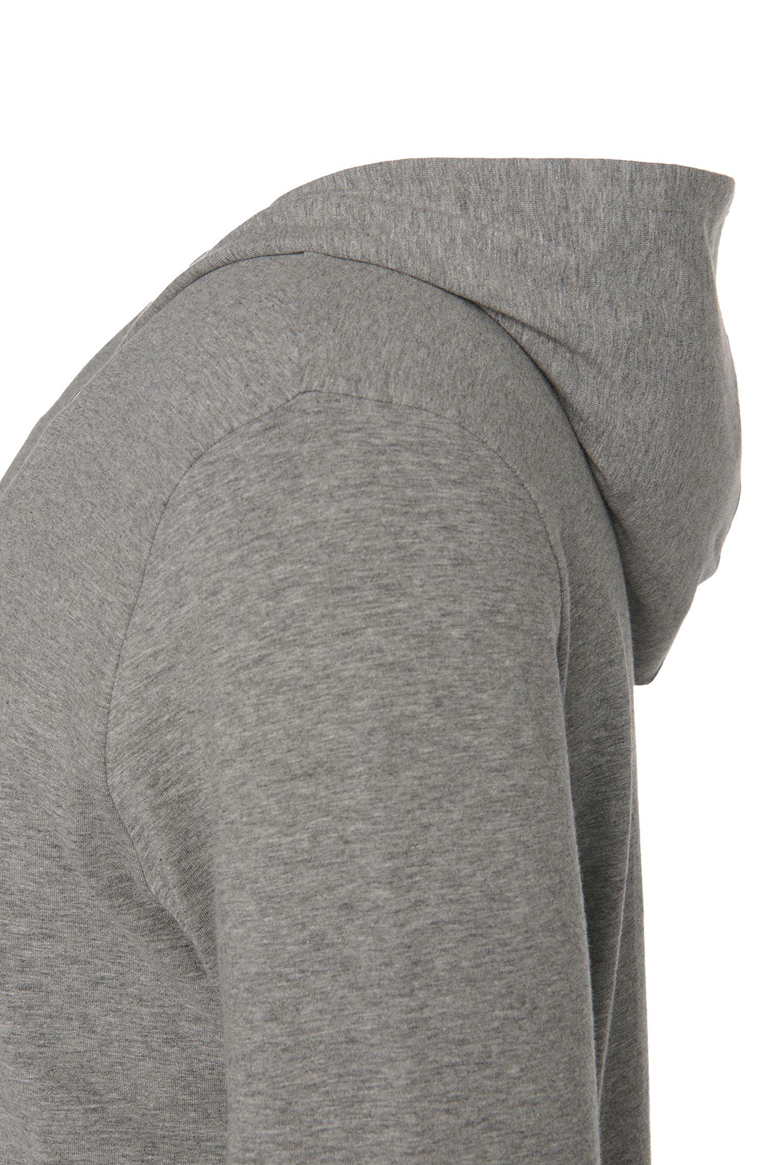 Blouson molletonné à capuche en coton stretch: «Jacket Hooded»