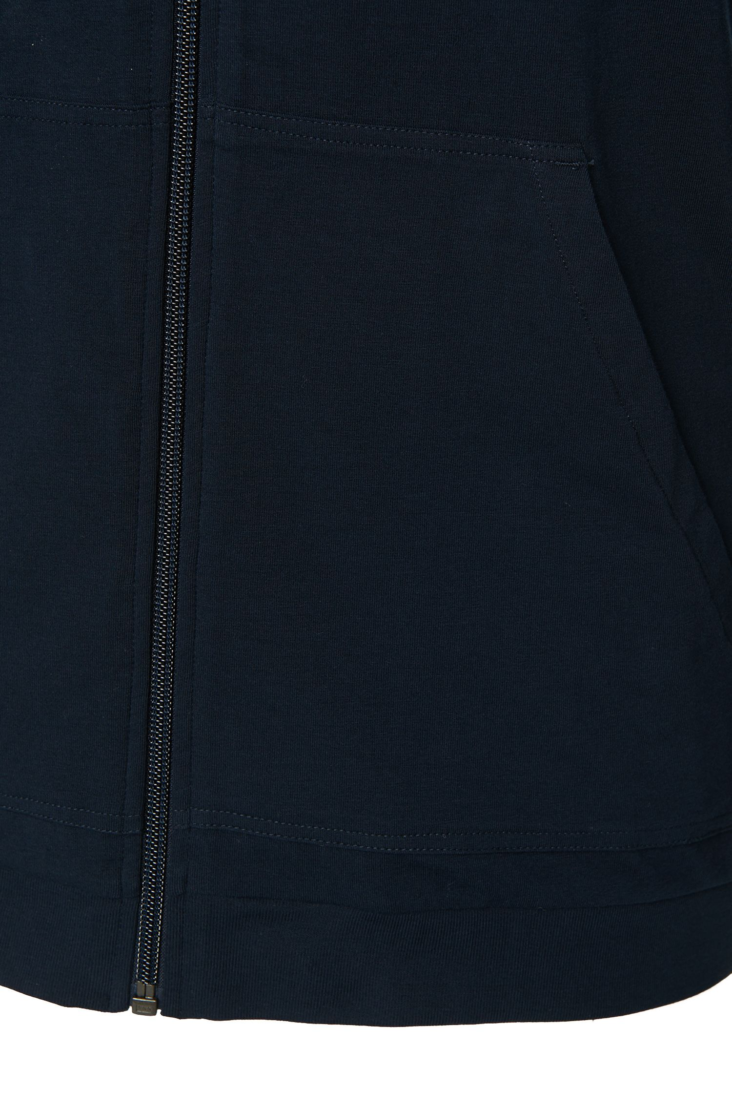 Sweatshirt-Jacke mit Kapuze aus Stretch-Baumwolle: 'Jacket Hooded'