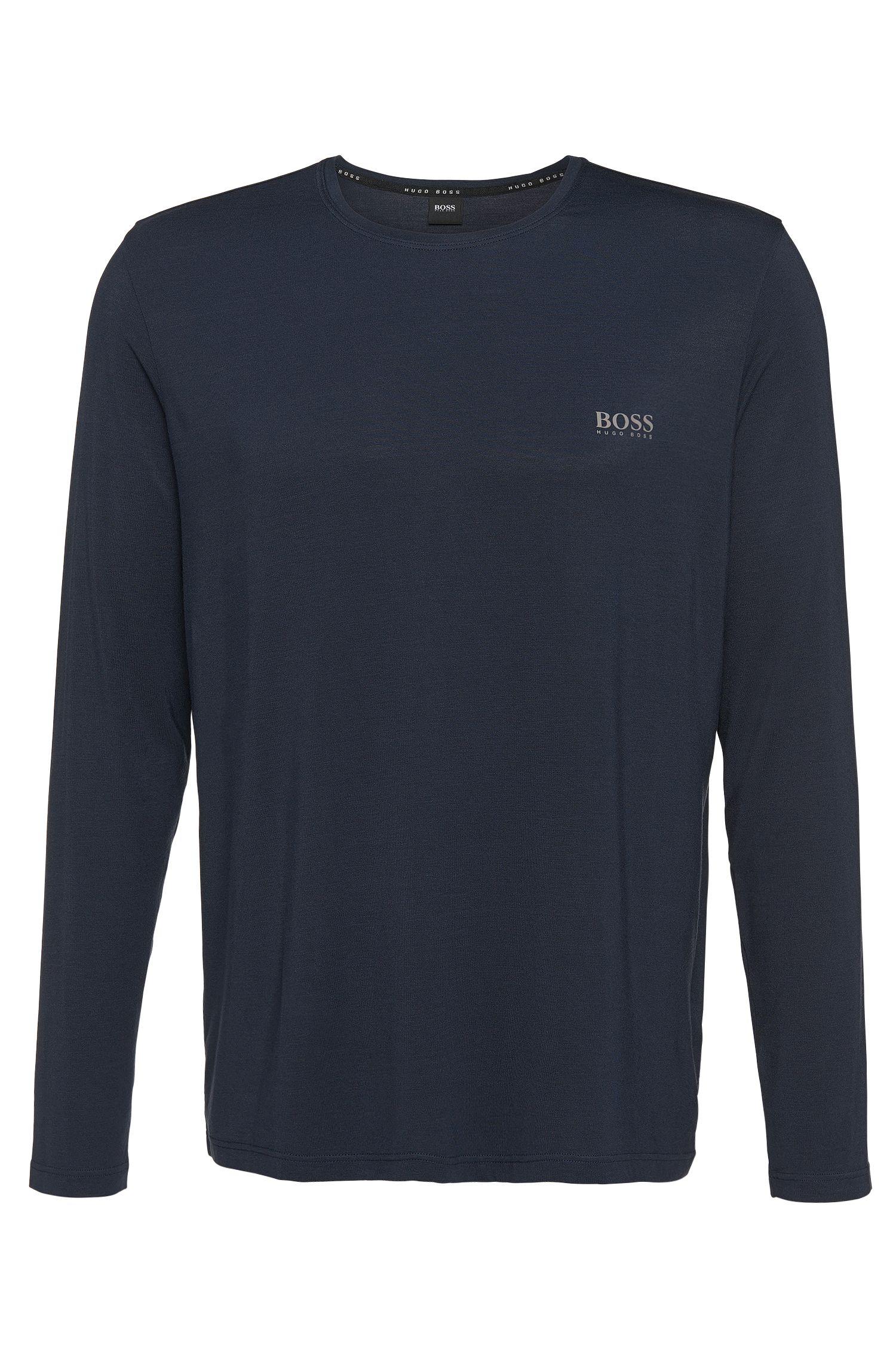 Camiseta de manga larga en mezcla de modal elástico: 'Shirt RN LS'