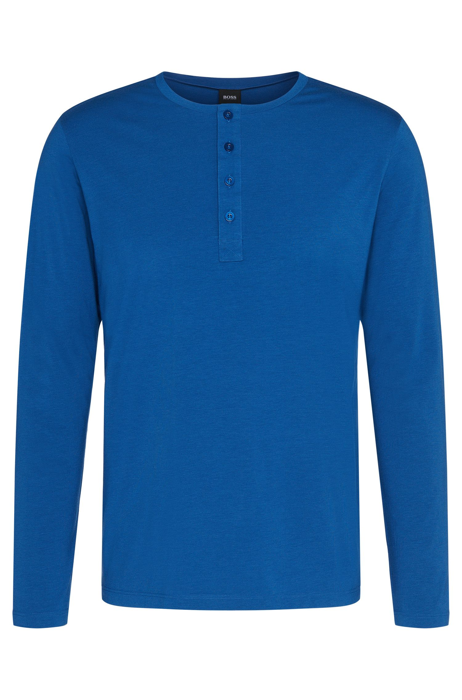 Long-sleeved shirt in cotton blend: 'Shirt LSBP Balance'