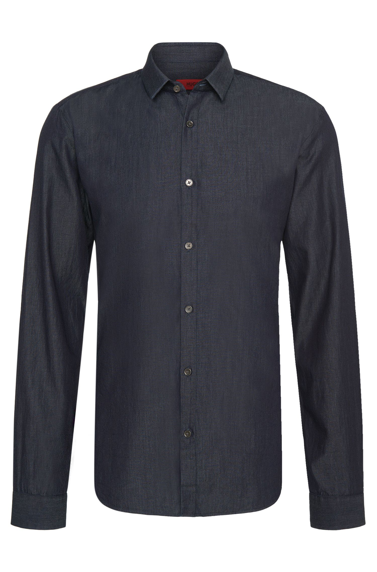 Camicia di jeans Slim-Fit in cotone: 'Ero3'