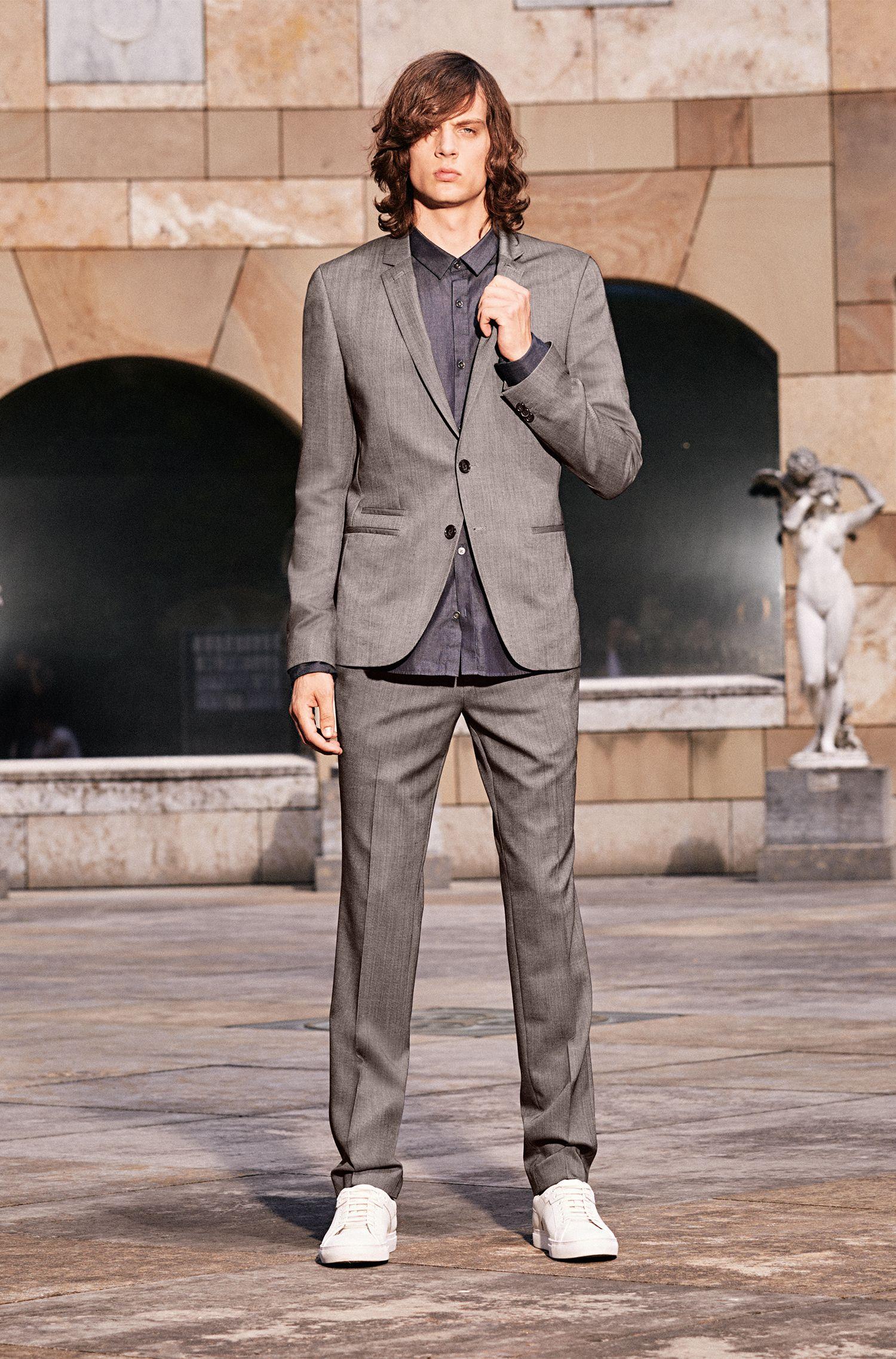 Slim-fit denimoverhemd van katoen: 'Ero3'