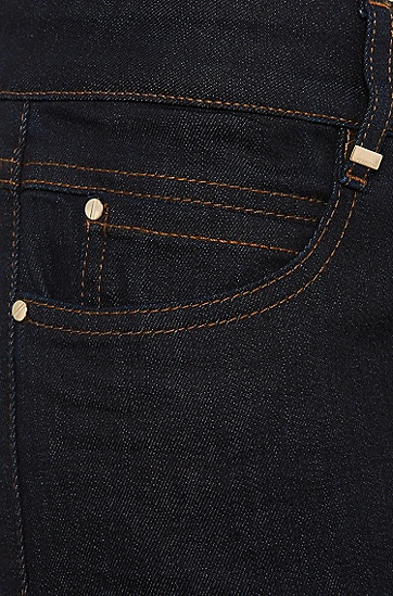 Regular-Fit Jeans aus elastischem Baumwoll-Mix: 'Nelin', Dunkelblau