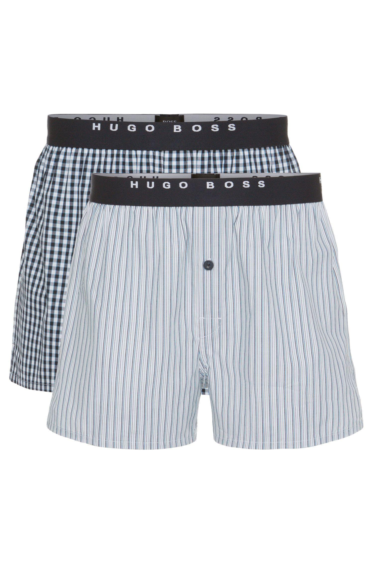 Paquete de dos calzoncillos boxer con estampado en algodón: 'Woven Boxer EW 2P'