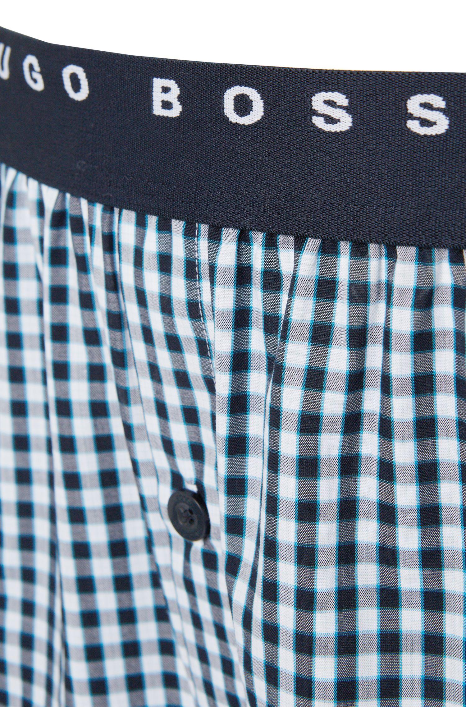 Boxer à motif en coton, en lot de deux: «Woven Boxer EW2P»