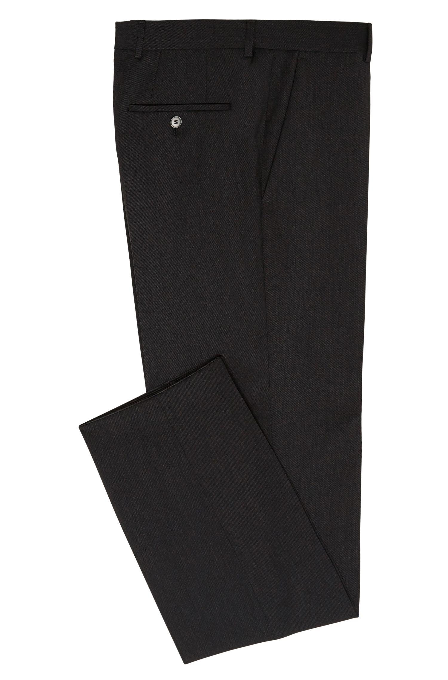 Pantalon Slim Fit finement structuré en coton mélangé extensible: «C-Genesis»