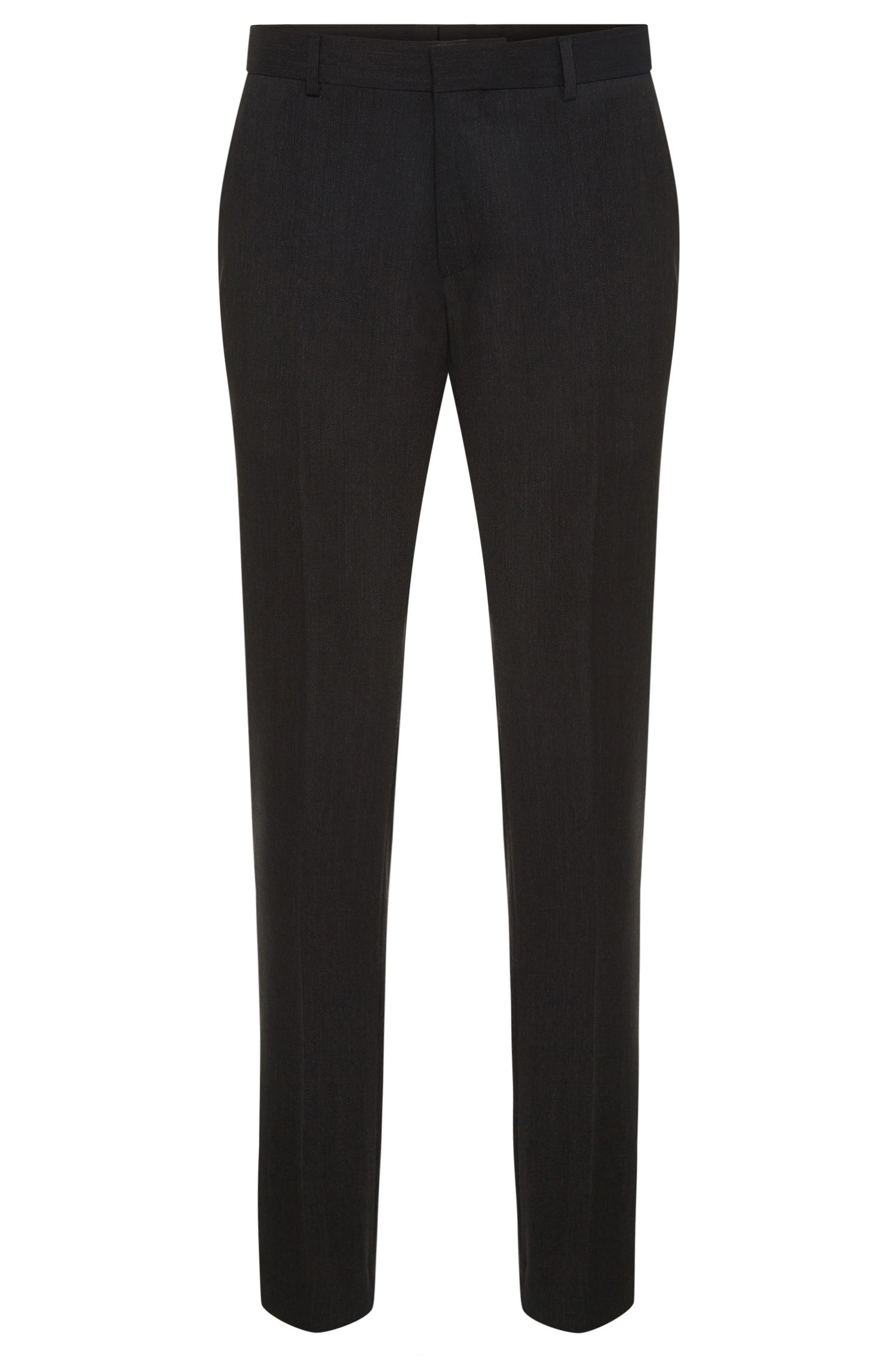 Finely textured slim-fit trousers in stretchy wool blend: 'C-Genesis'