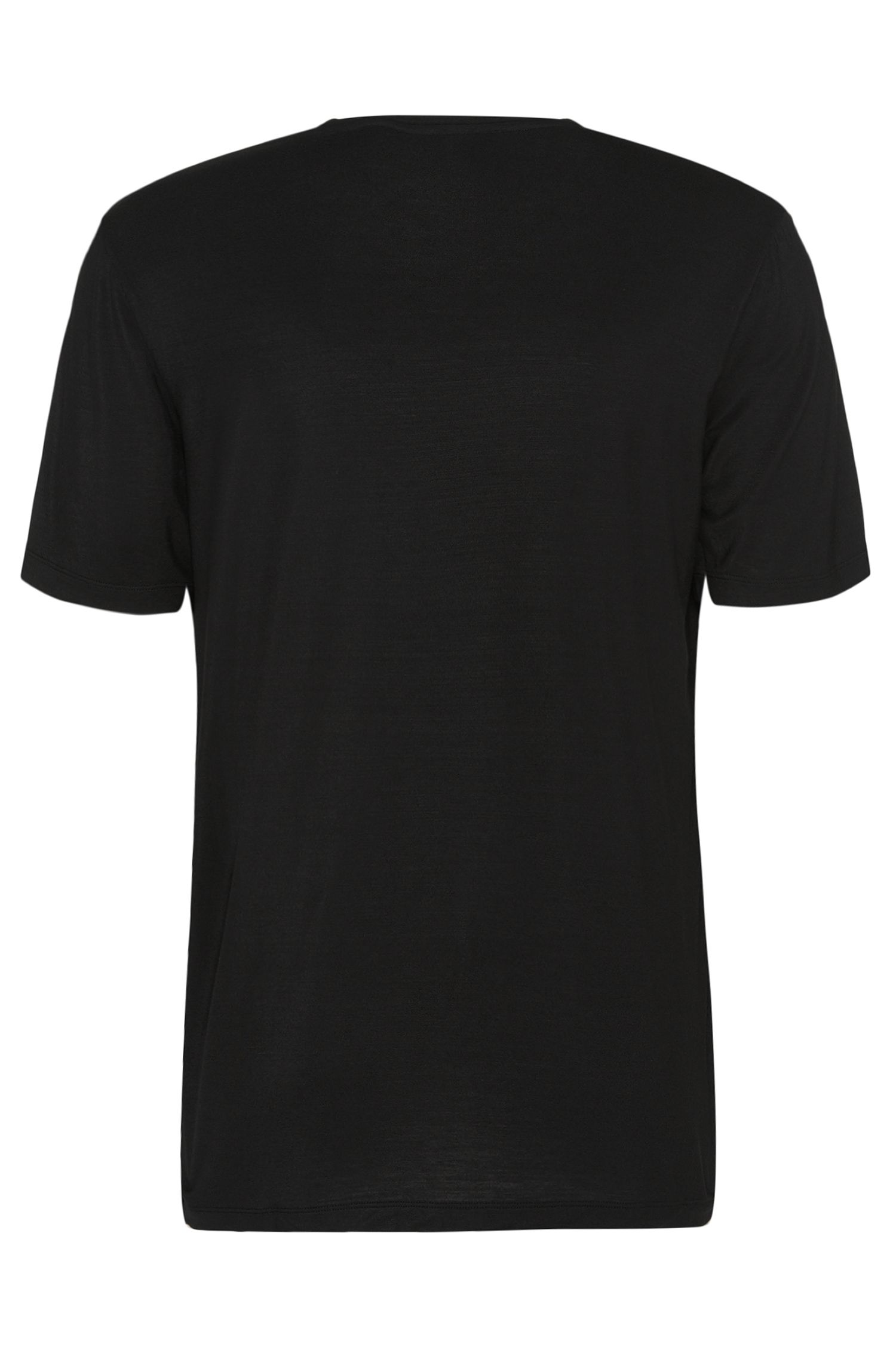 T-shirt Regular Fit en modal stretch : « Shirt VN »