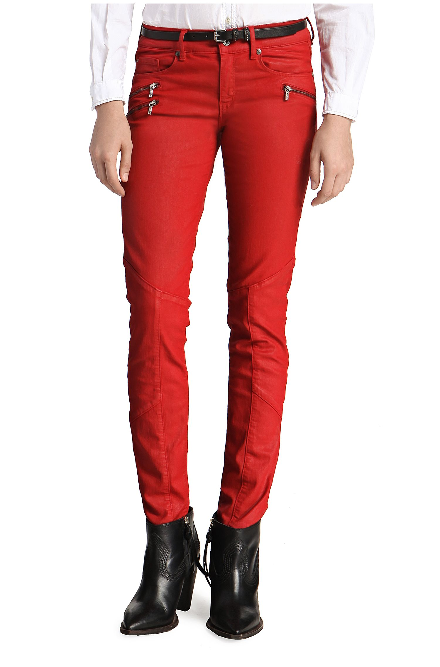 Slim-Fit Jeans ´Orange J20 London` mit Beschichtung
