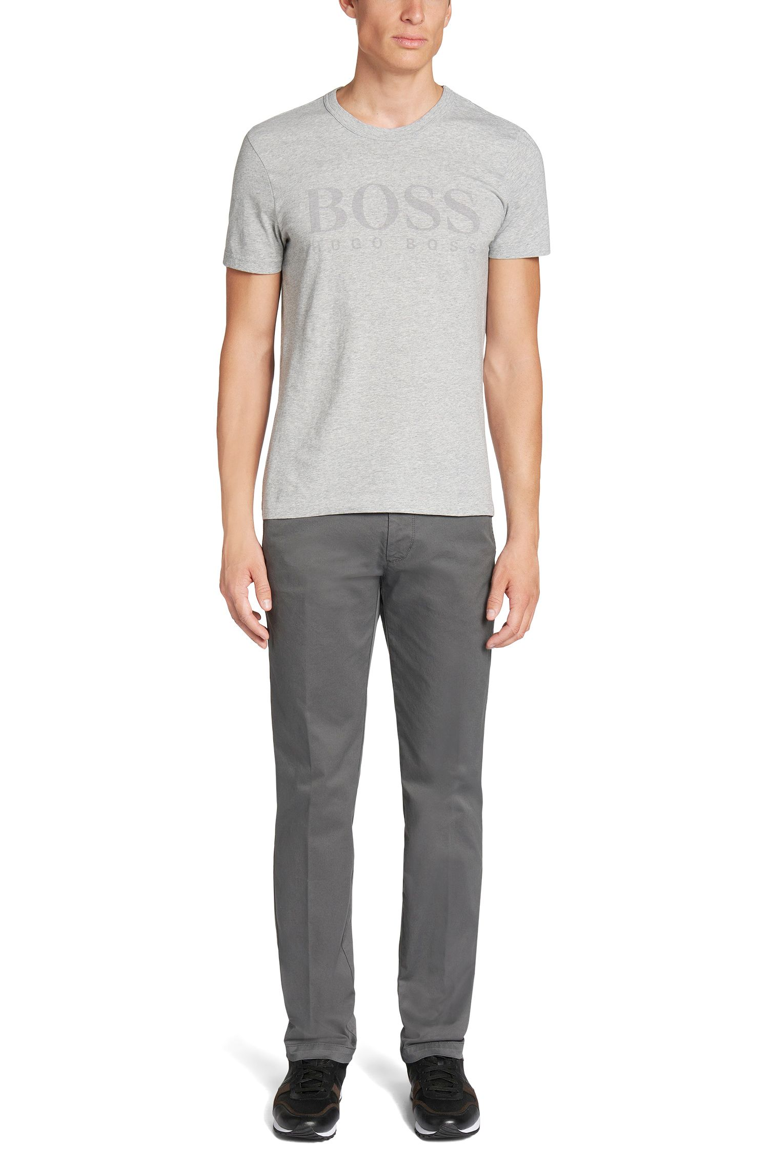 Slim-Fit T-Shirt aus Baumwolle mit Logo-Print: 'Lecco 144'