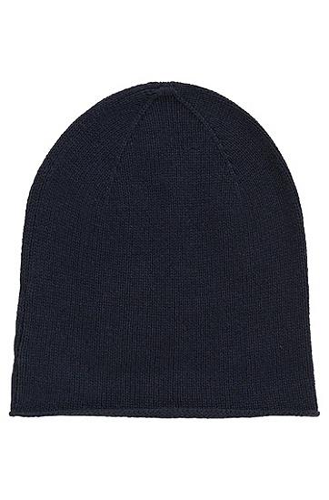 Mütze aus Schurwoll-Mix mit Yakwoll- und Kaschmir-Anteil: 'Zarota', Dunkelblau