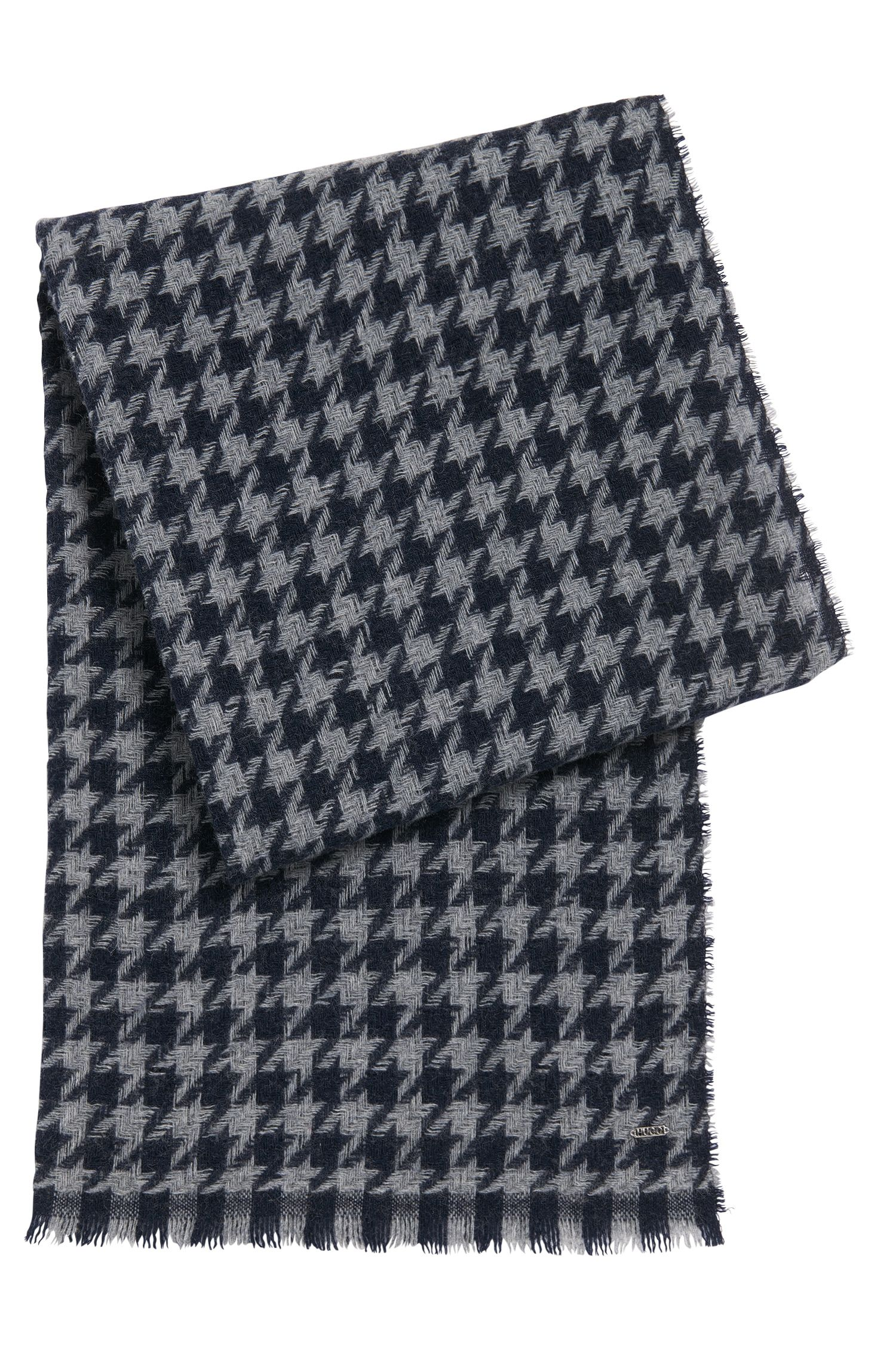 Scarf in wool blend with houndstooth pattern: 'Women-Z 490'