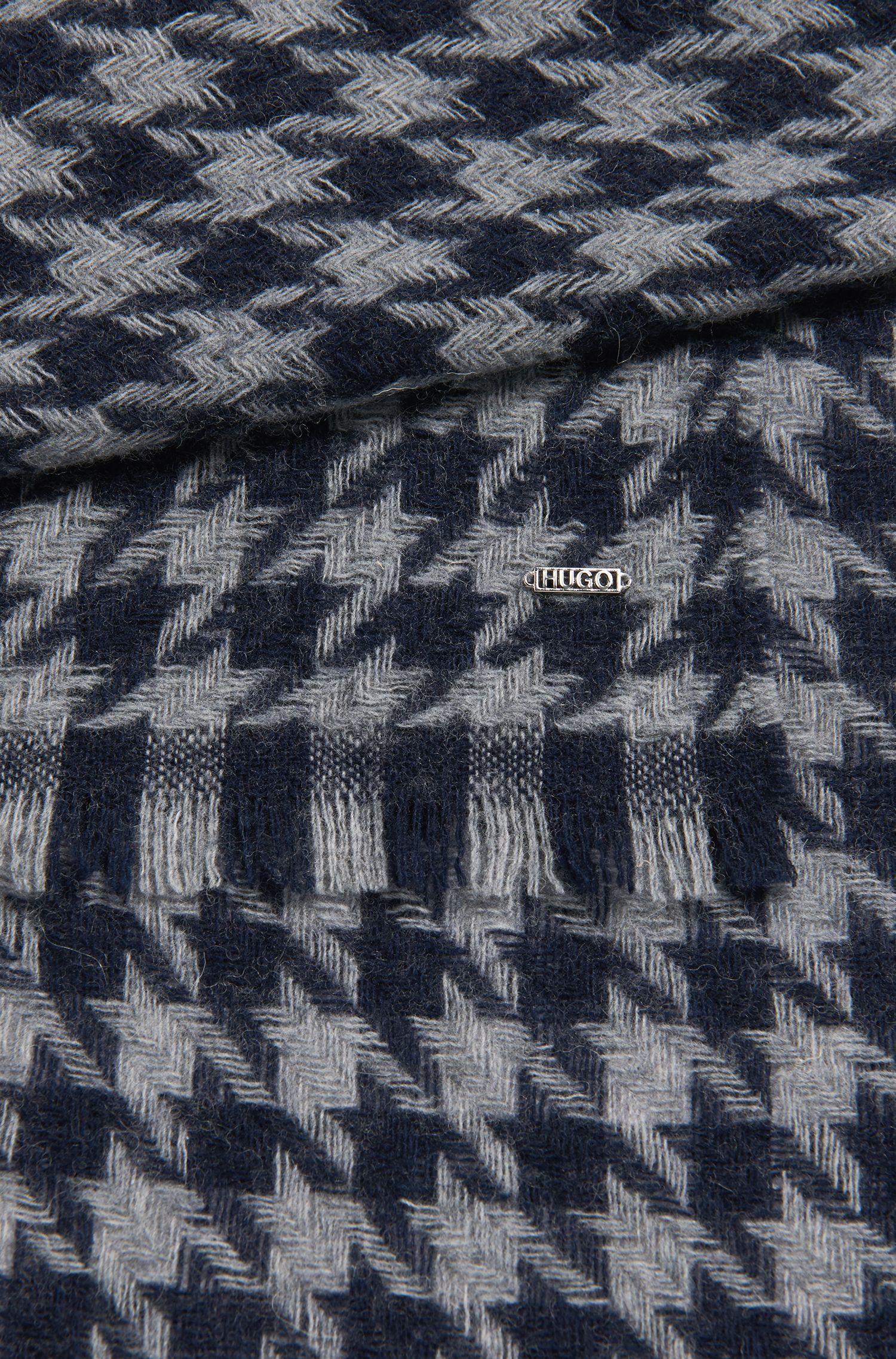 Schal aus Woll-Mix mit Hahnentritt-Muster: 'Women-Z 490'