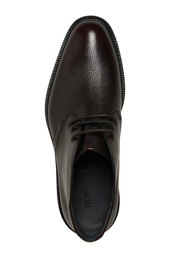 真皮系带鞋'Higlis', 601_暗红色