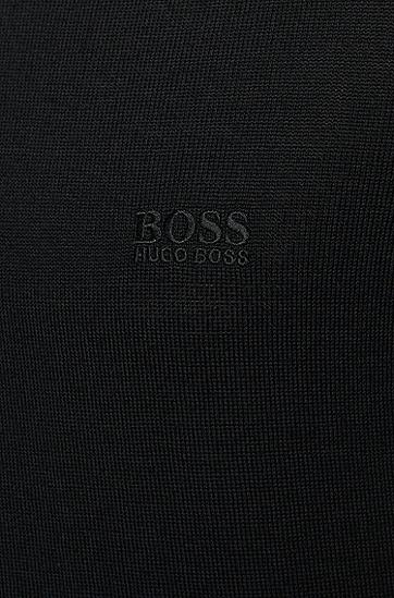 男士商务休闲长袖POLO衫,  001_黑色