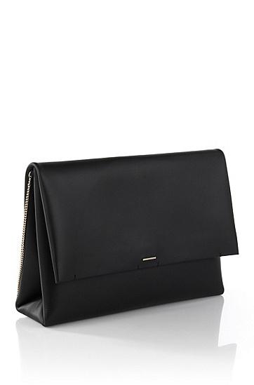 Leather clutch bag: 'Luxury Staple C', Black