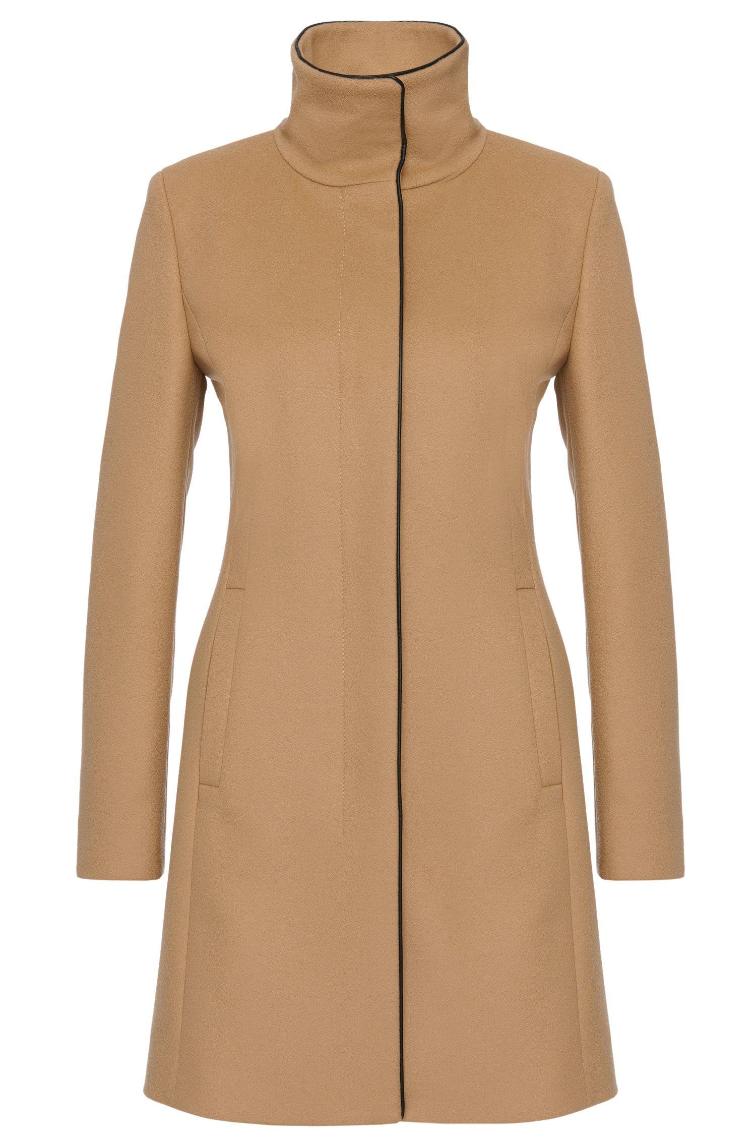 Manteau en laine vierge mélangée, avec du cachemire: «Maluba»