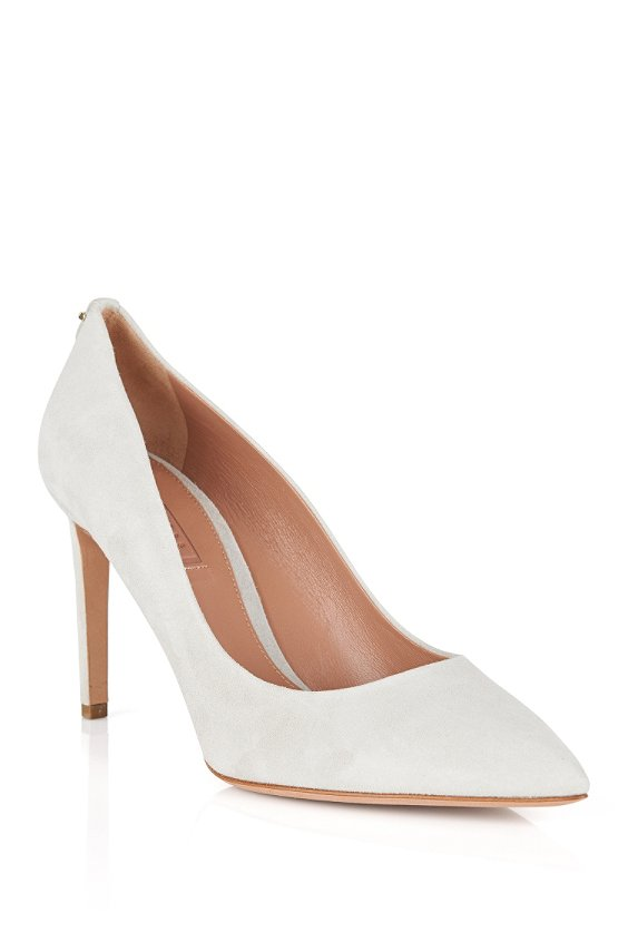 Pumps aus Veloursleder: 'Staple P 90-S', 055_Light Grey
