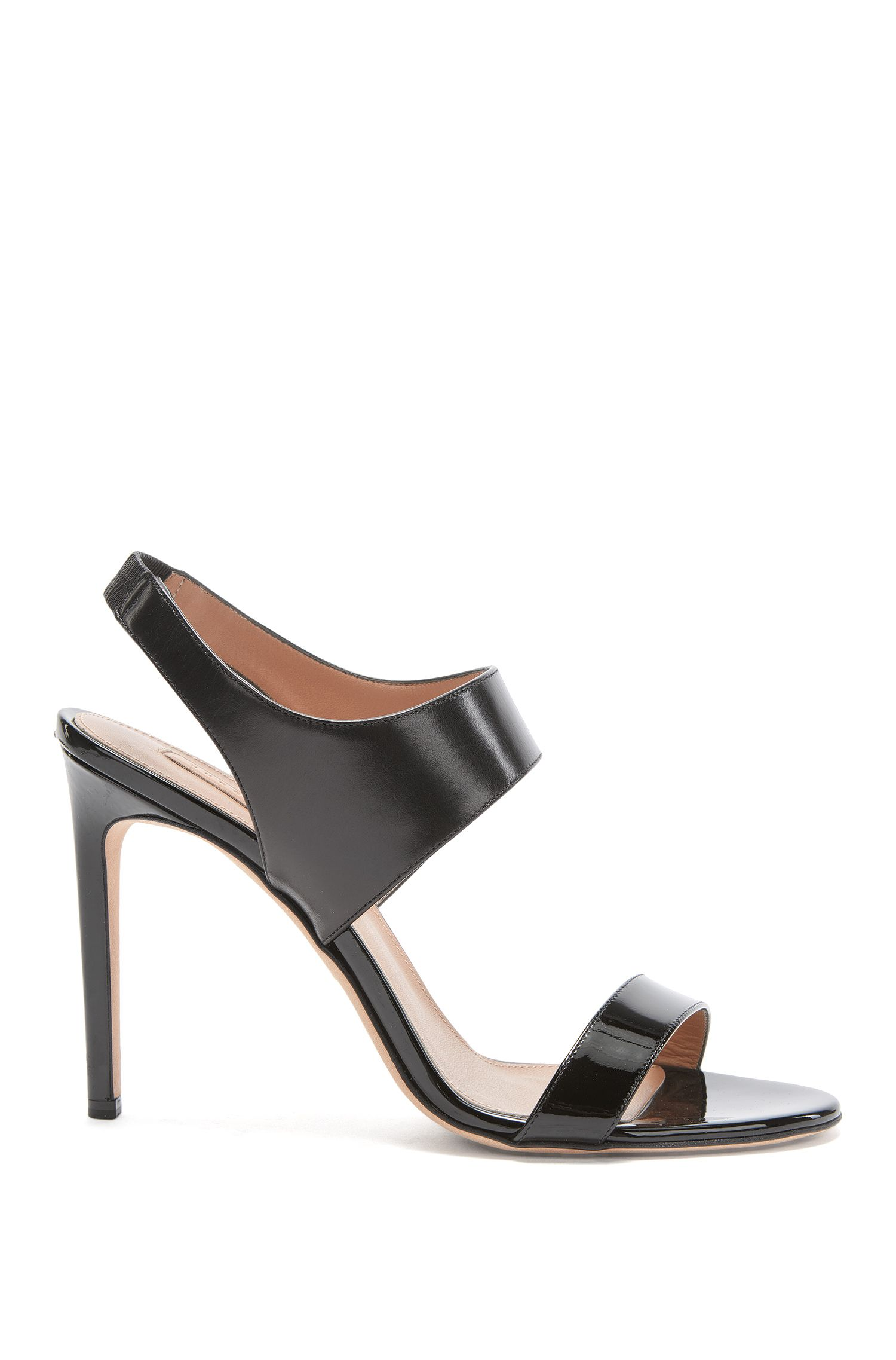 Leather ankle-strap sandals: 'Staple Sandal 100'
