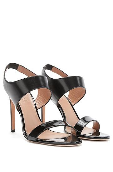 Sandaletten aus Leder: 'Staple Sandal 100', Schwarz