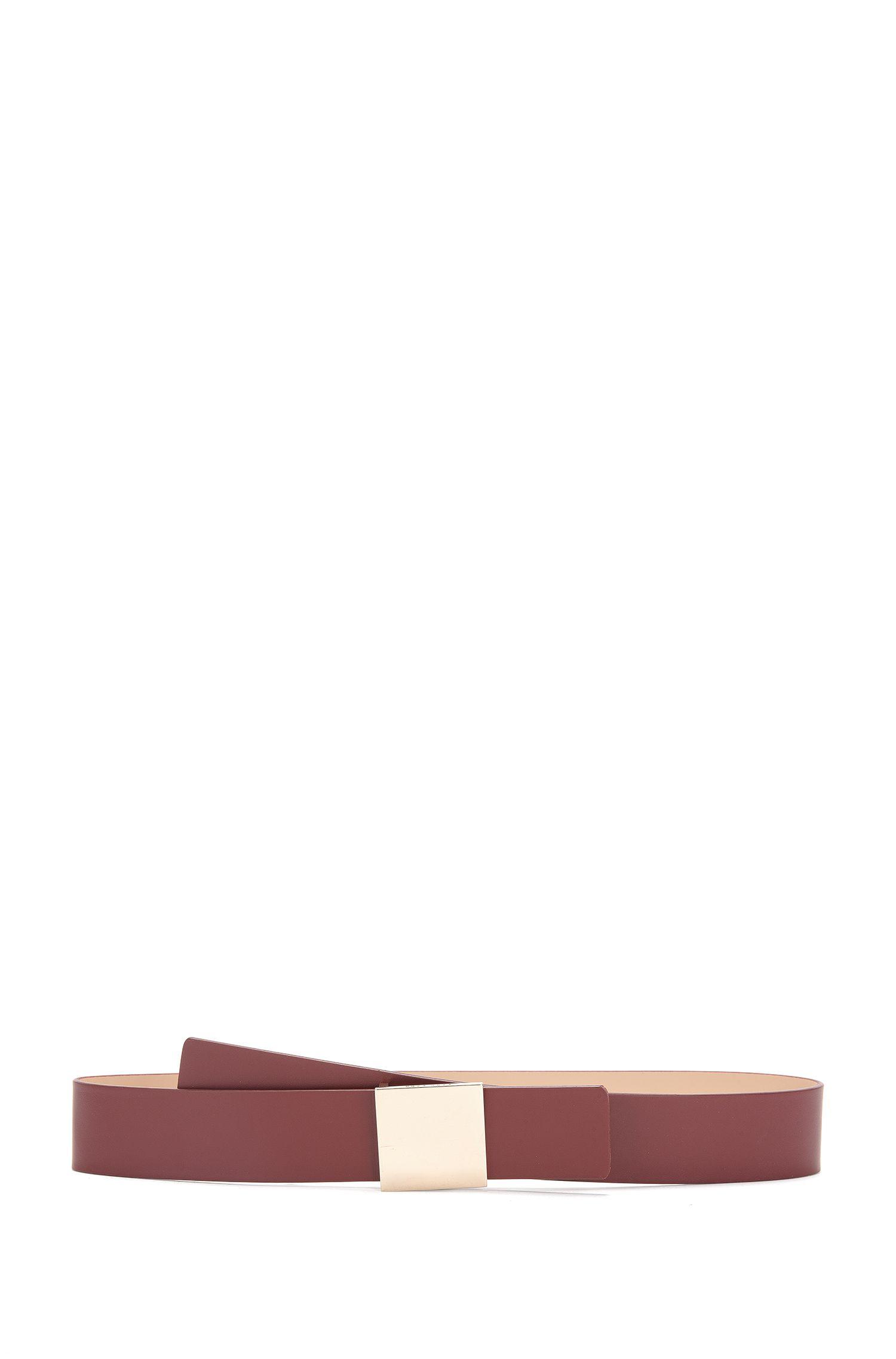 Ceinture en cuir à fermoir carré: «Bria»