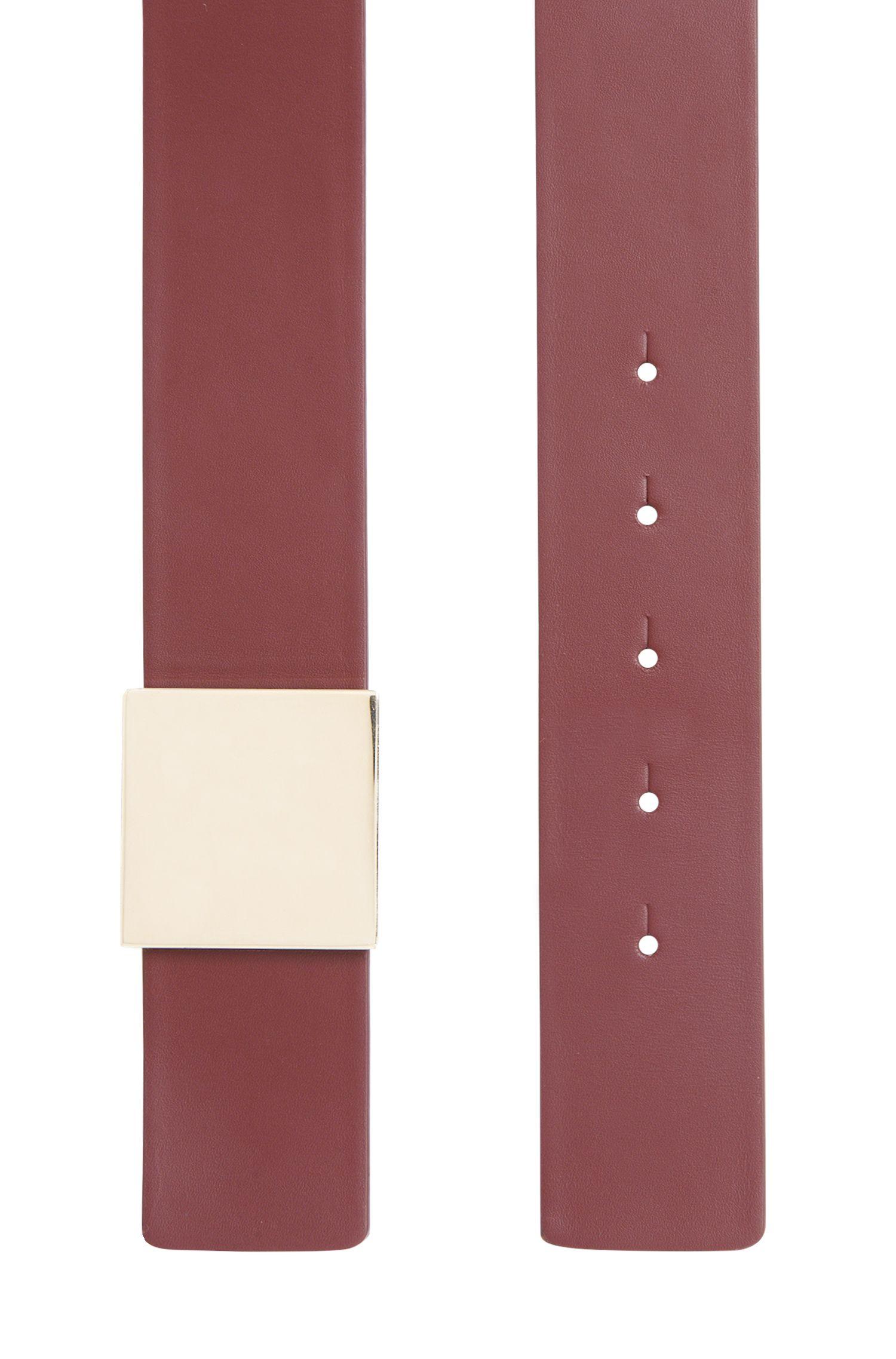 Gürtel aus Leder mit quadratischem Verschluss: 'Bria'