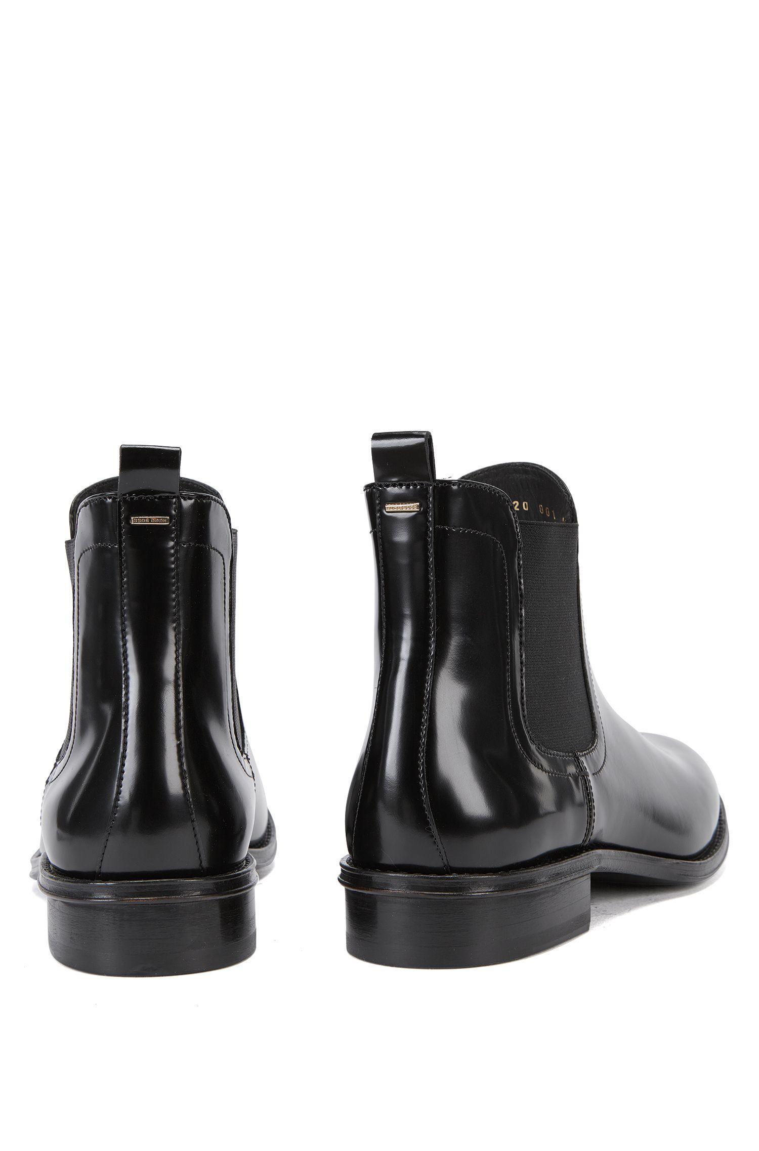 Boots aus glattem Leder: 'Chelsea'