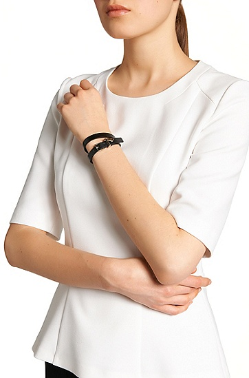 Leather bracelet: 'Berlin bracelet', Black