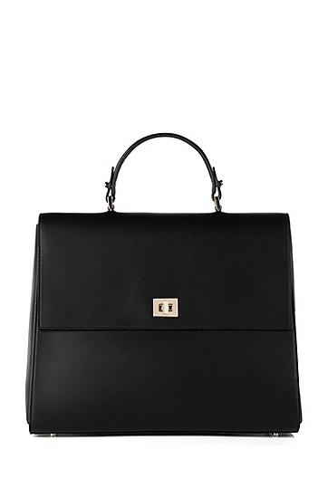 BOSS Bespoke handbag in smooth leather, Black