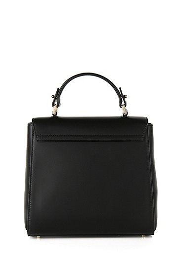 Kleine BOSS Bespoke Handtasche aus Leder, Schwarz