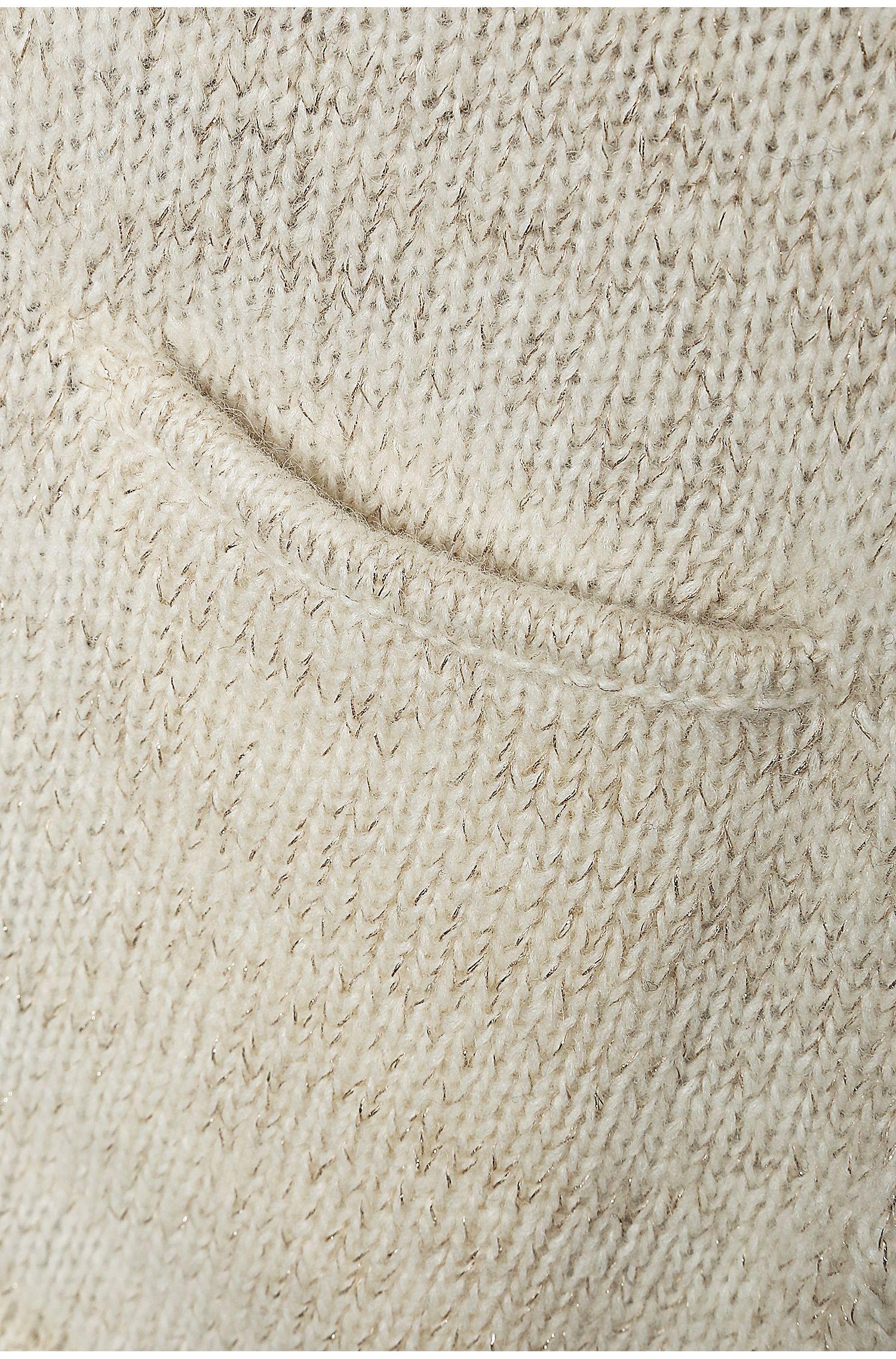 Gebreid vest van een hoogwaardige materiaalmix: 'Witzella'