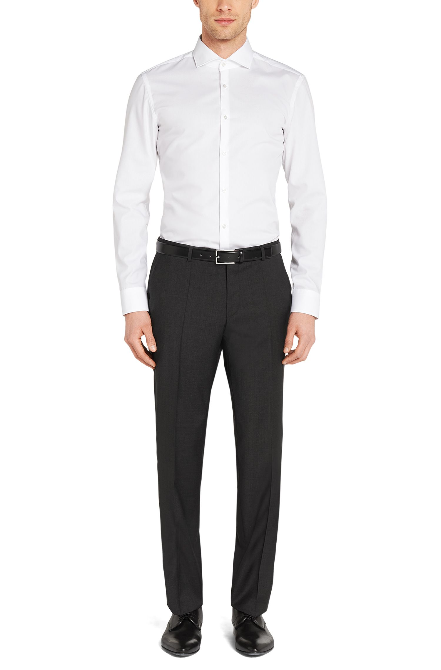 Regular-Fit Hose aus reiner Schurwolle: 'C-Sharp1S'