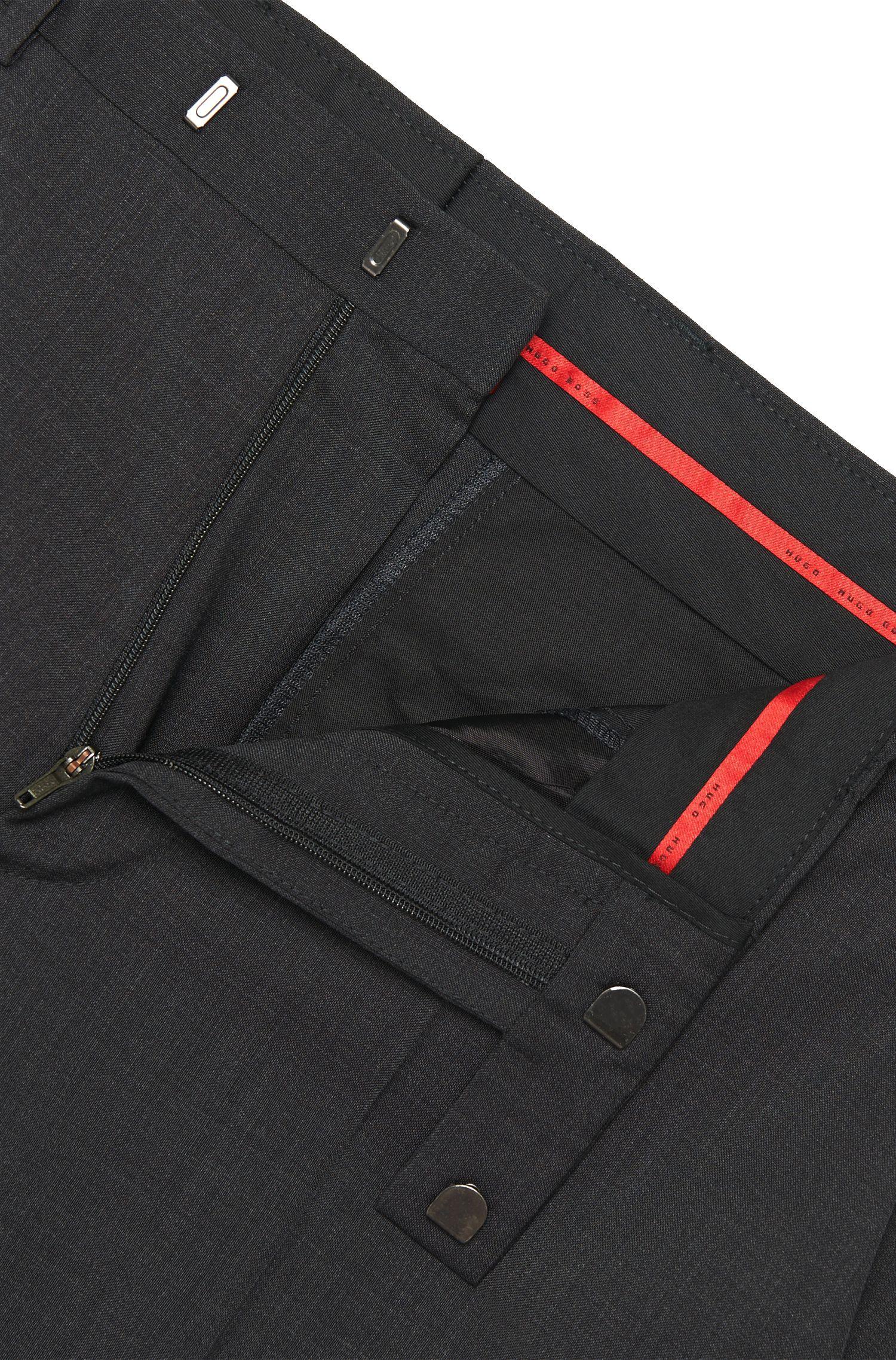 Pantalon Regular Fit en pure laine vierge: «C-Sharp1S»