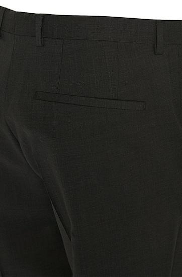 Regular-Fit Hose aus reiner Schurwolle: 'C-Sharp1S', Dunkelgrau