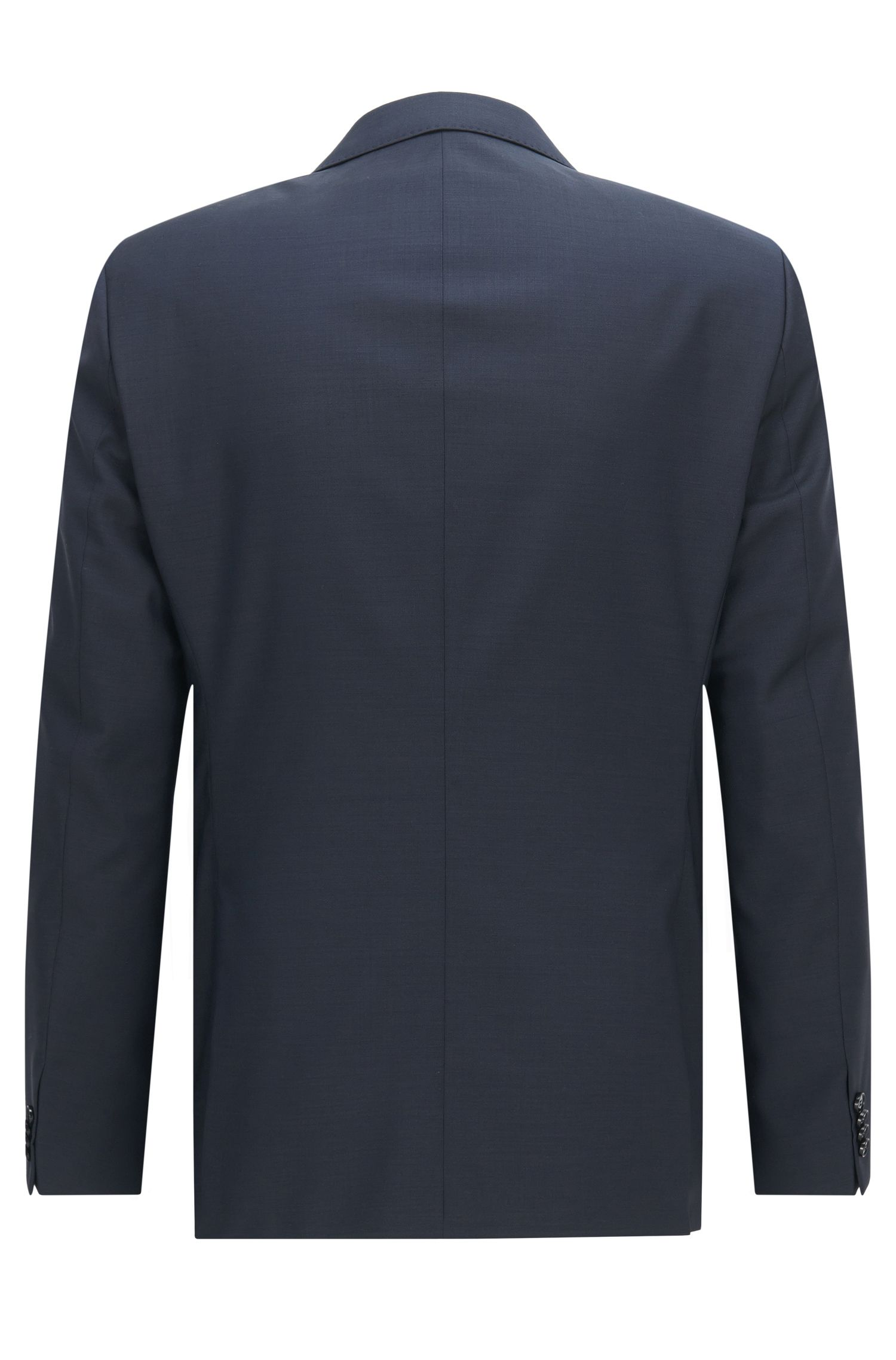 Unifarbenes Slim-Fit Sakko aus Schurwolle: 'C-Huge1S'
