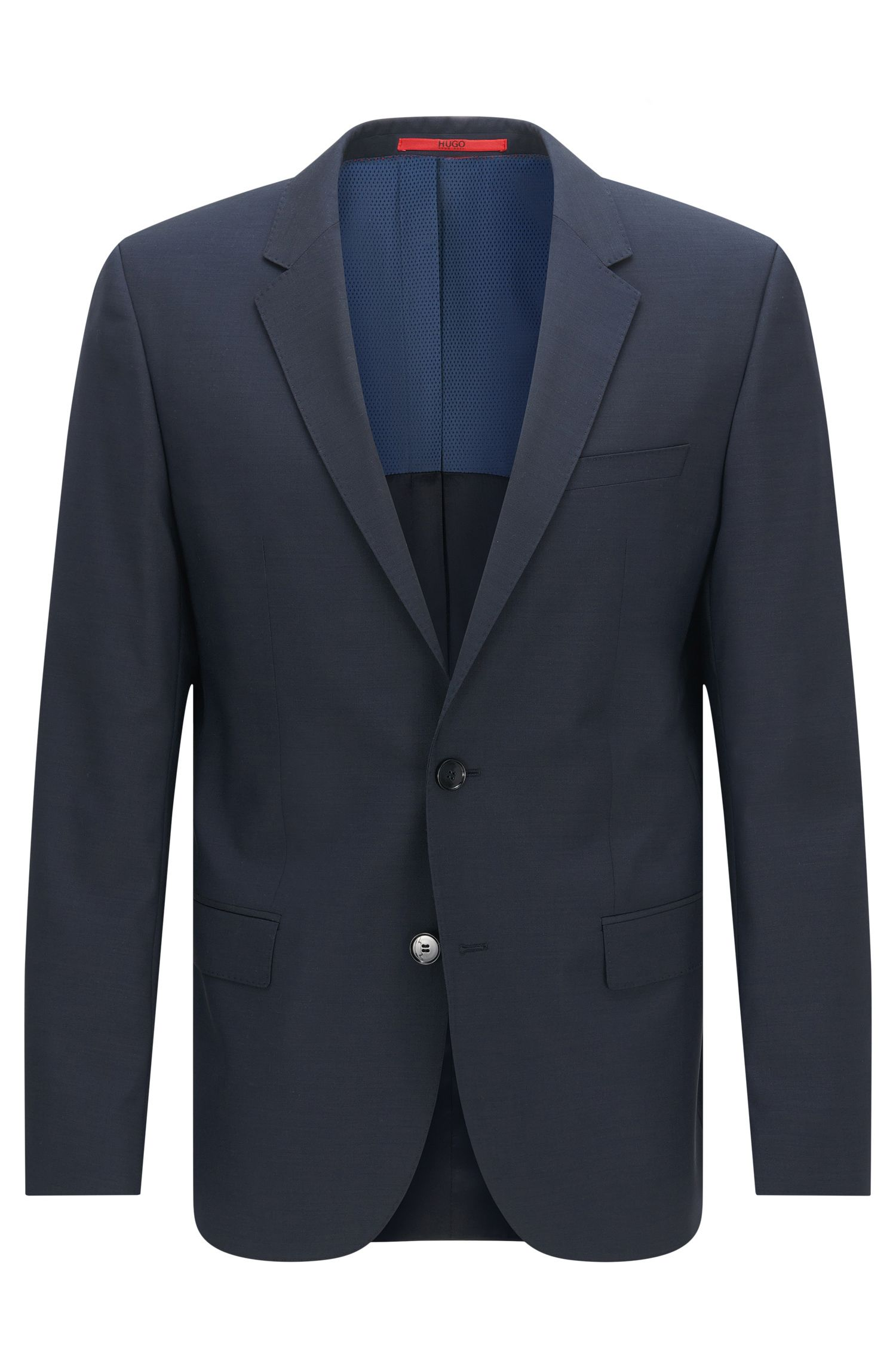 Plain-coloured slim-fit jacket in new wool: 'C-Huge1S'