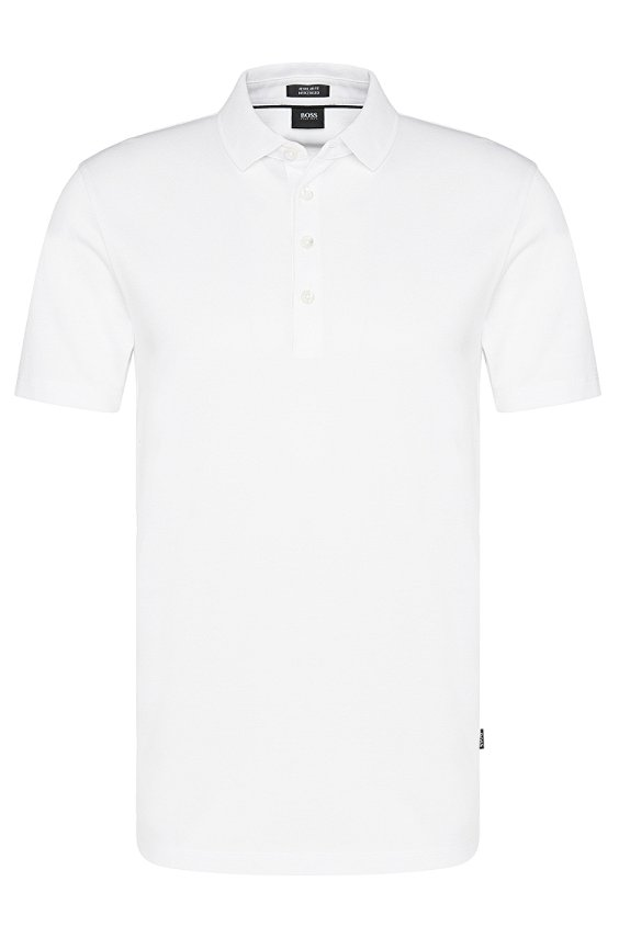 Polo uni en pur coton : « Pack », 100_White